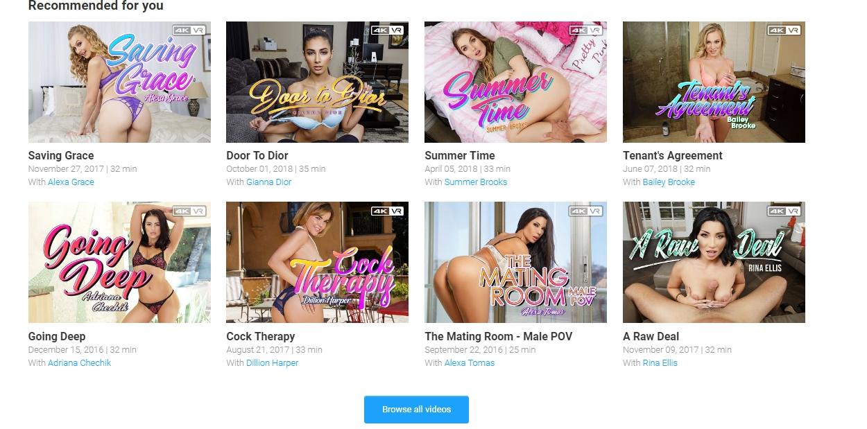 BadoinkVR Video library